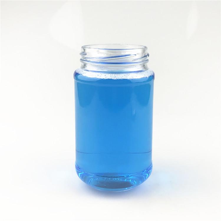 glass round food jar