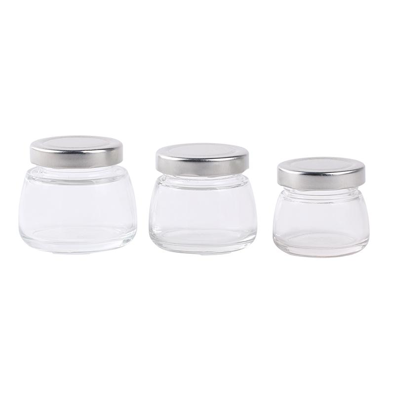 food glass jar with lid